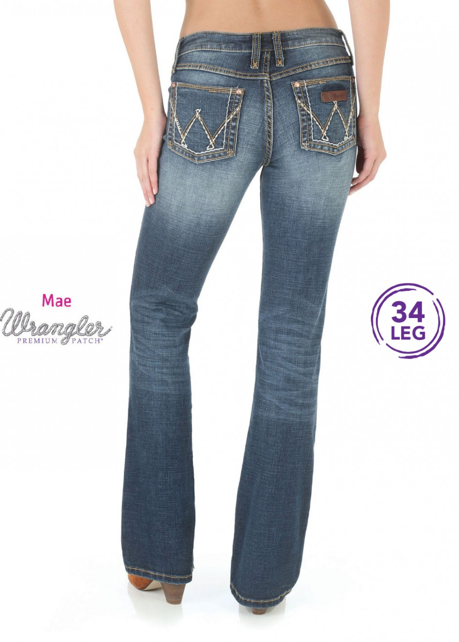 WOMENS P/PATCH SITS ABOVE HIP JEAN - MAE