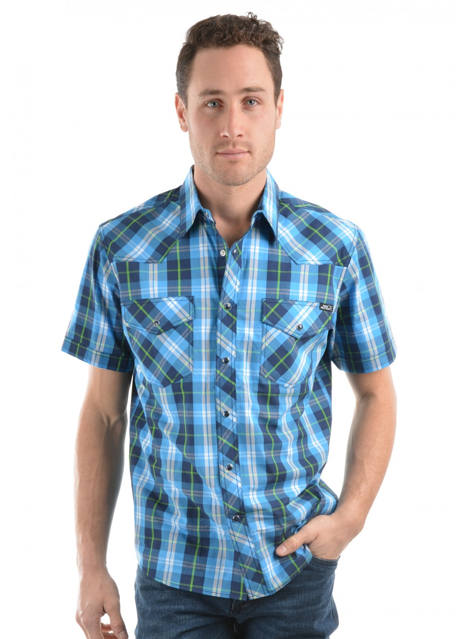 MENS KING CHECK S/S SHIRT