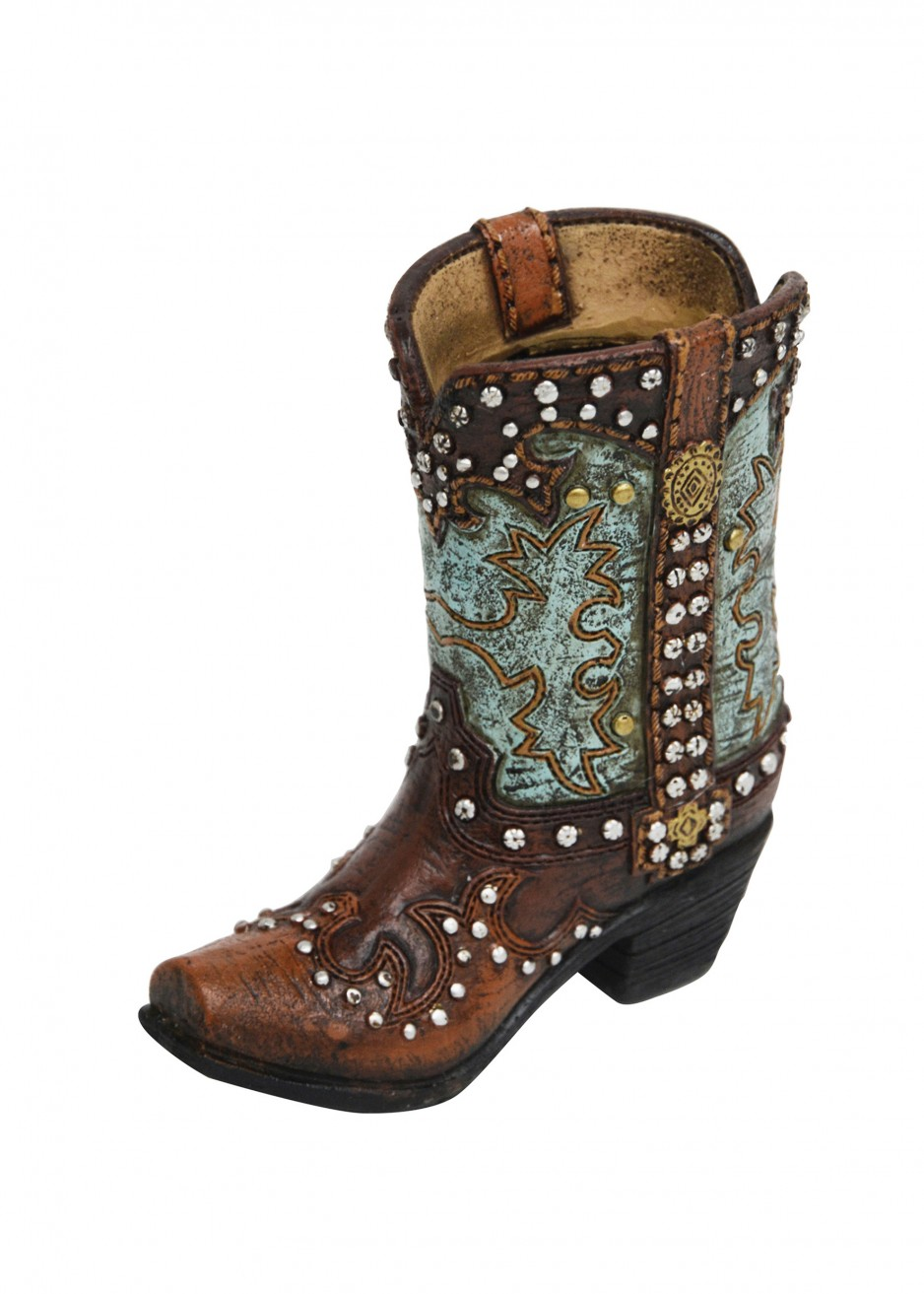 RESIN STUD TURQUOISE BOOT SMALL