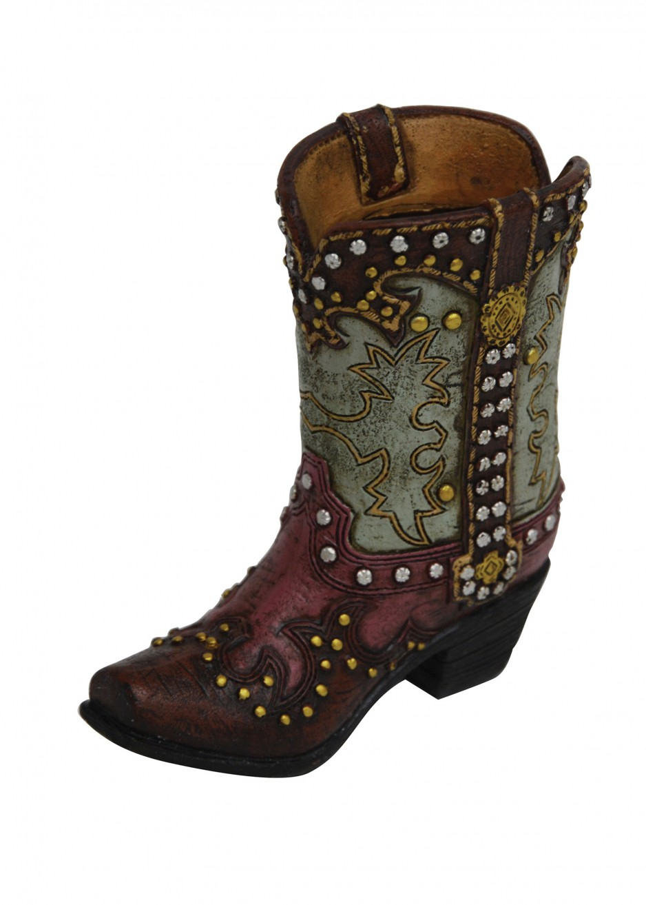 RESIN STUD PINK BOOT SMALL