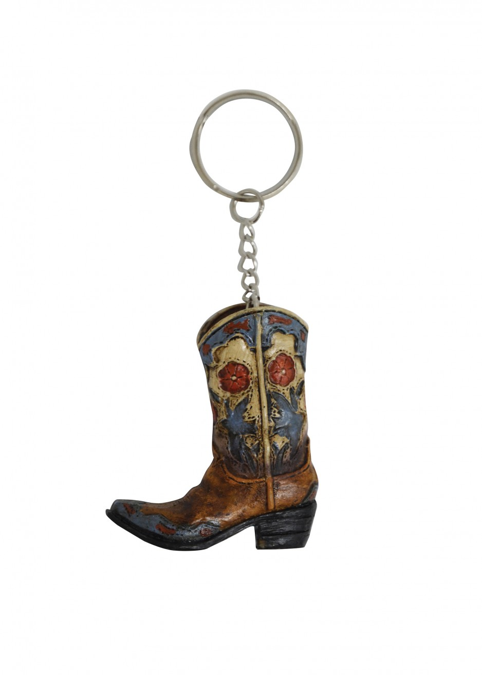 BOOT DOVE & FLOWER KEY CHAIN
