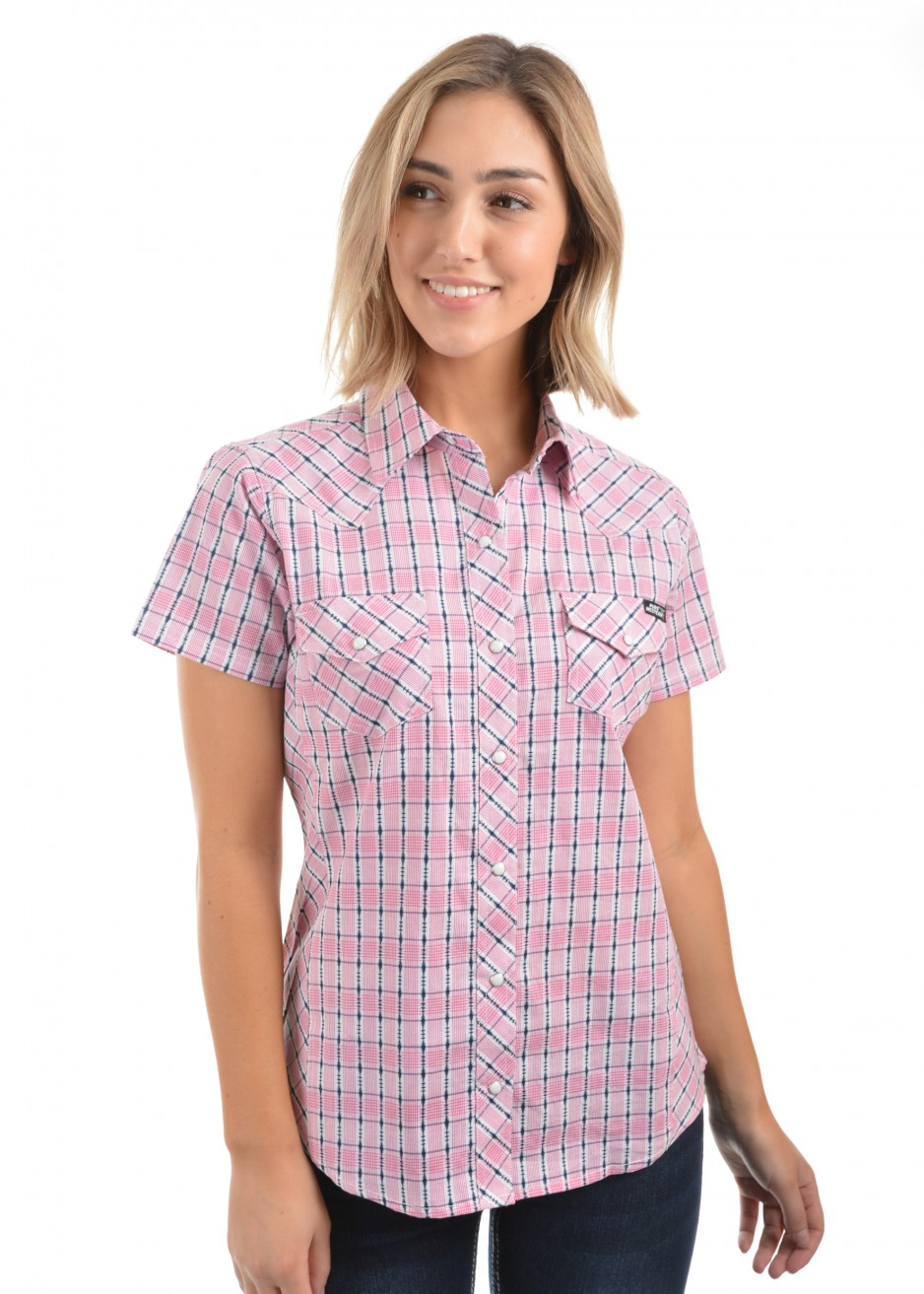 WOMENS SCOUT CHECK S/S SHIRT