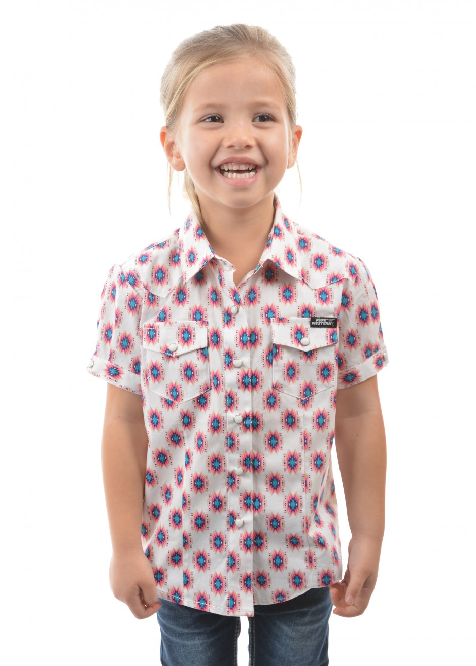 GIRLS KARINA PRINT S/S SHIRT