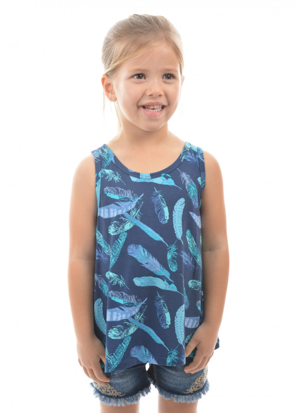 GIRLS FAITH SINGLET TOP