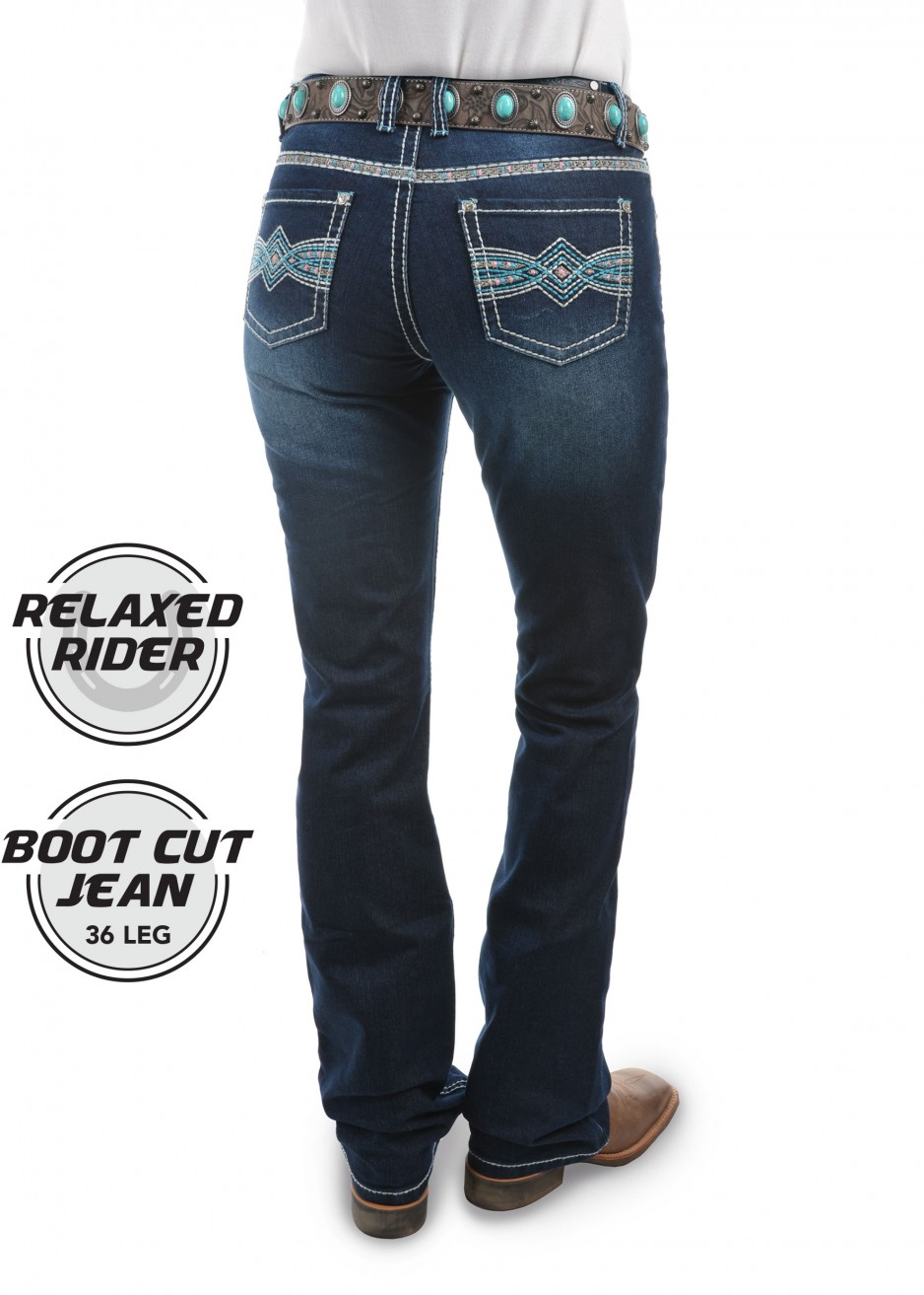 INDIANA RELAXED RIDER JEAN 36 LEG