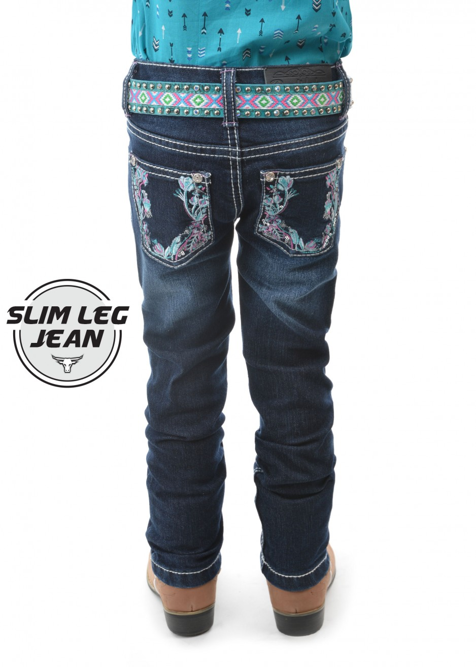 GIRLS MADISON SLIM LEG JEAN