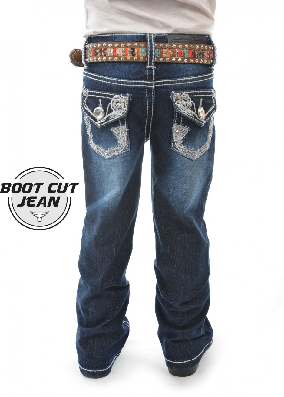 GIRLS DAISY BOOT CUT JEAN