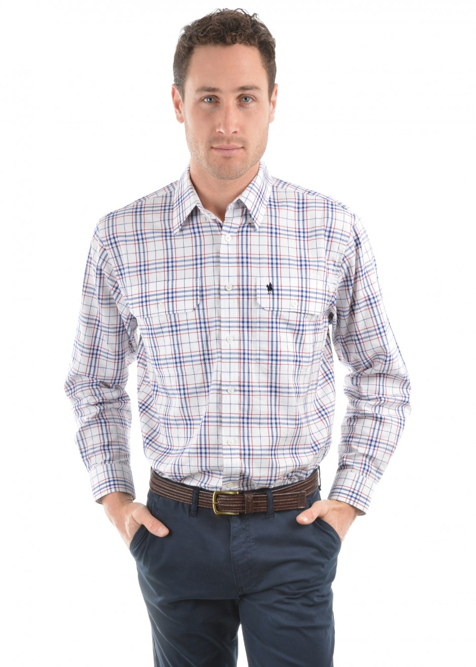 MENS TODD CHECK 2-POCKETS L/S SHIRT