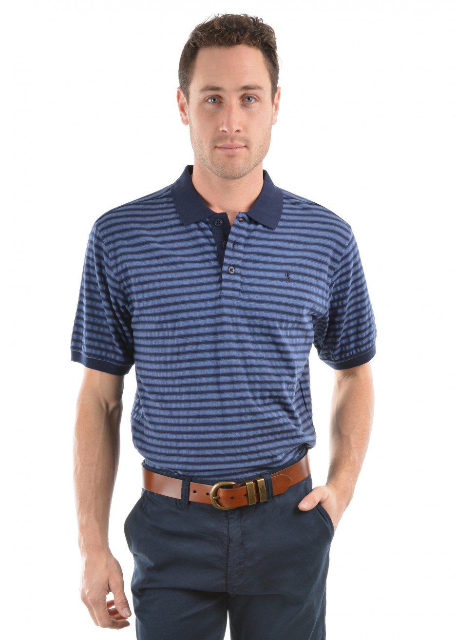 MENS KEVIN STRIPE S/S POLO