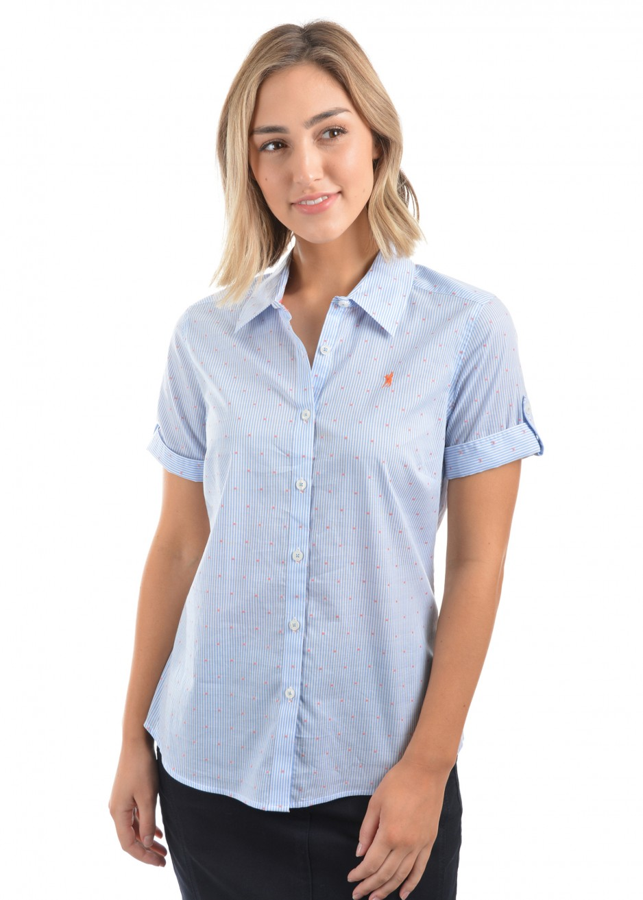 WOMENS NICKY STRIPE S/S SHIRT