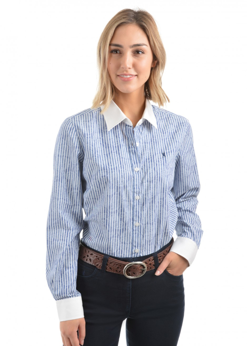 WOMENS GEORGIA STRIPE L/S SHIRT