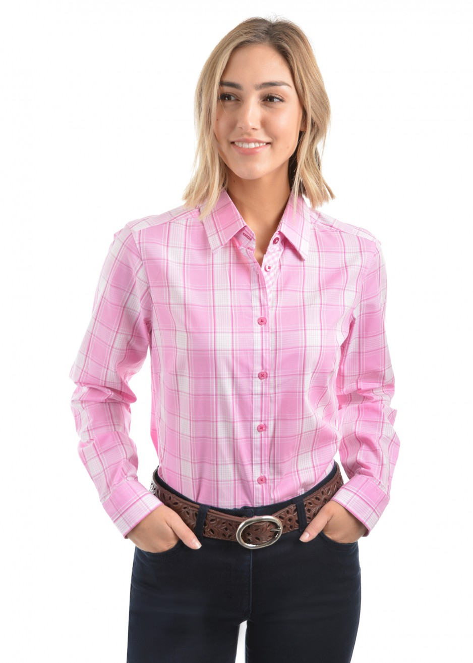 WOMENS KIRSTEN CHECK L/S SHIRT