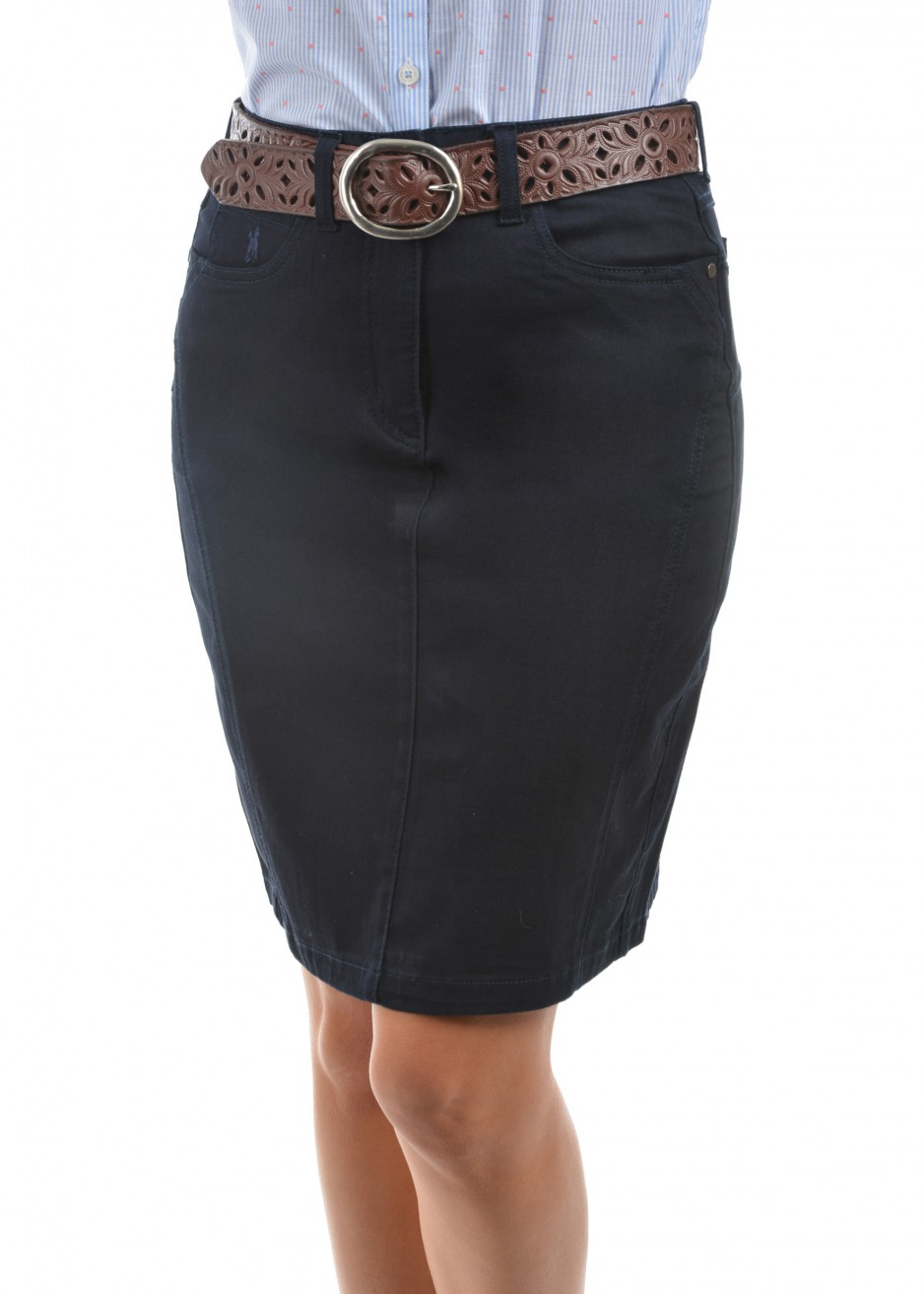 WOMENS JENOLAN DENIM SKIRT