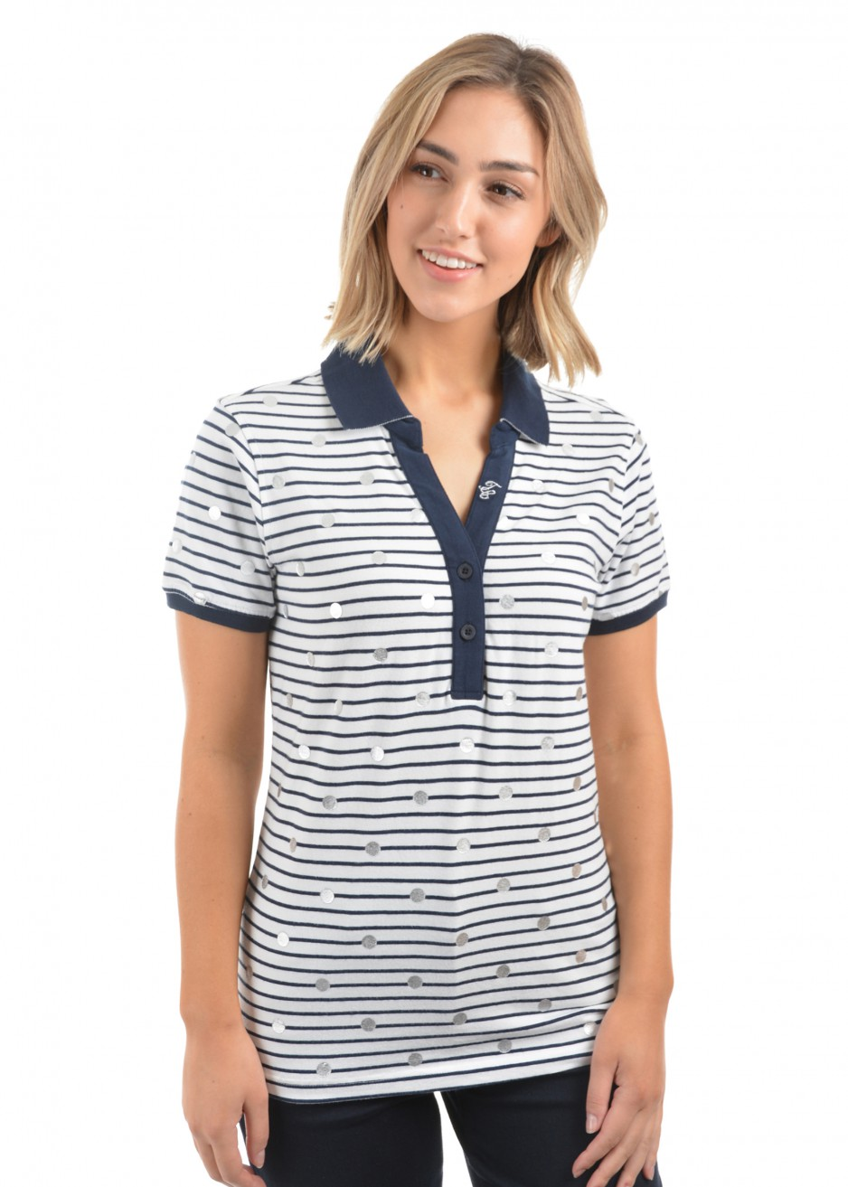 WOMENS GRACE PRINT S/S POLO
