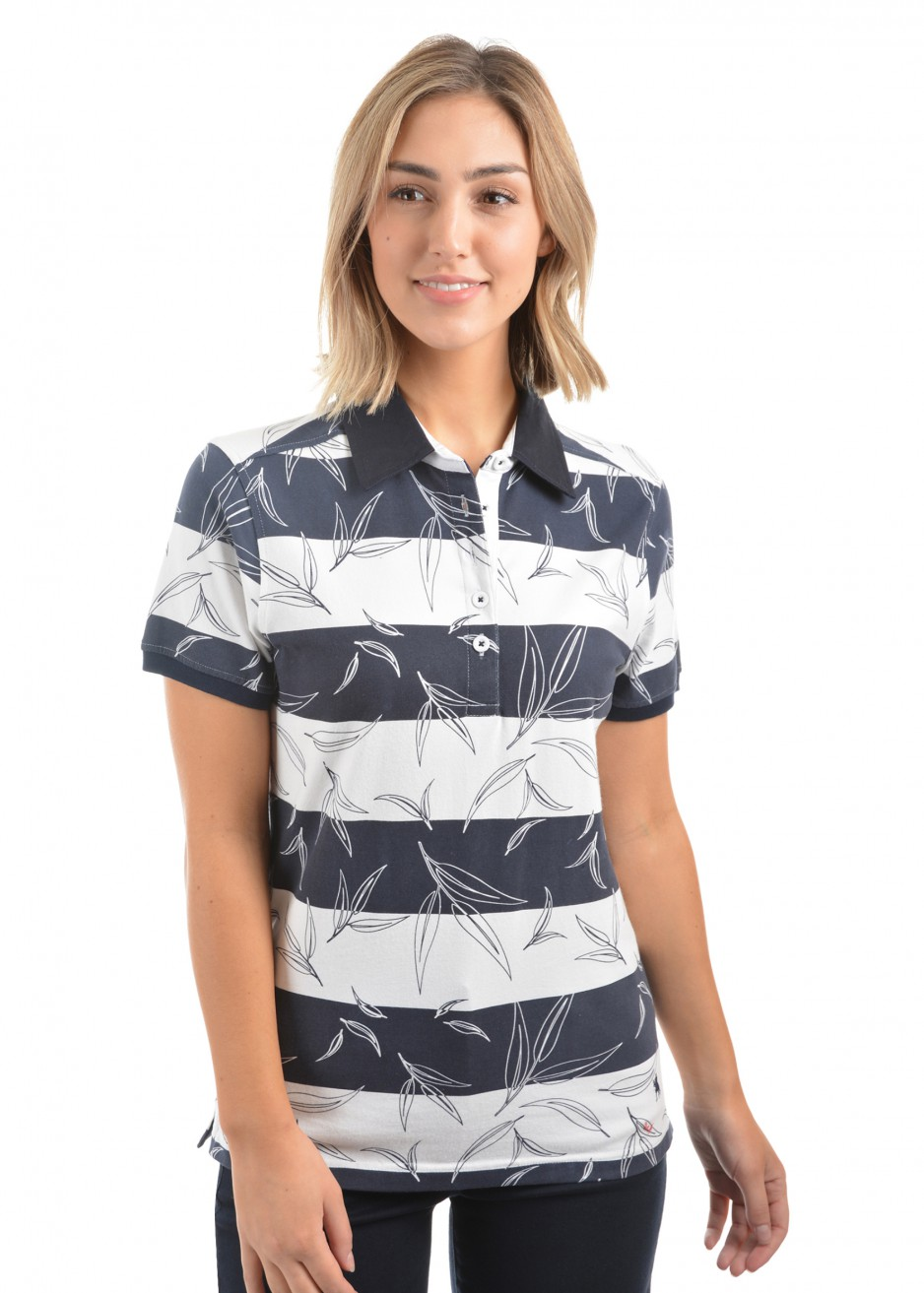 WOMENS VIV PRINT S/S POLO