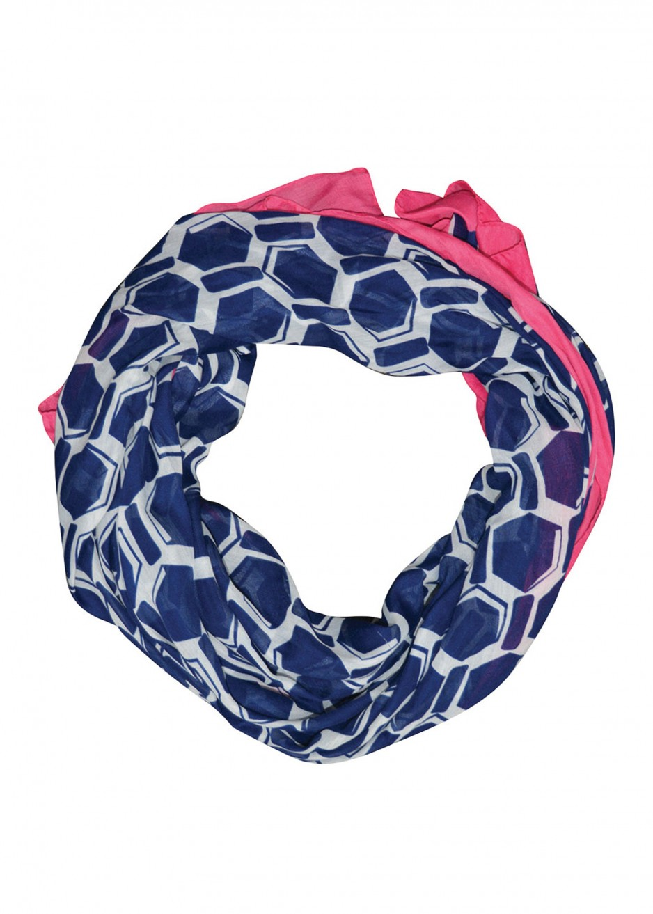 WOMENS VOILE PRINT SCARF