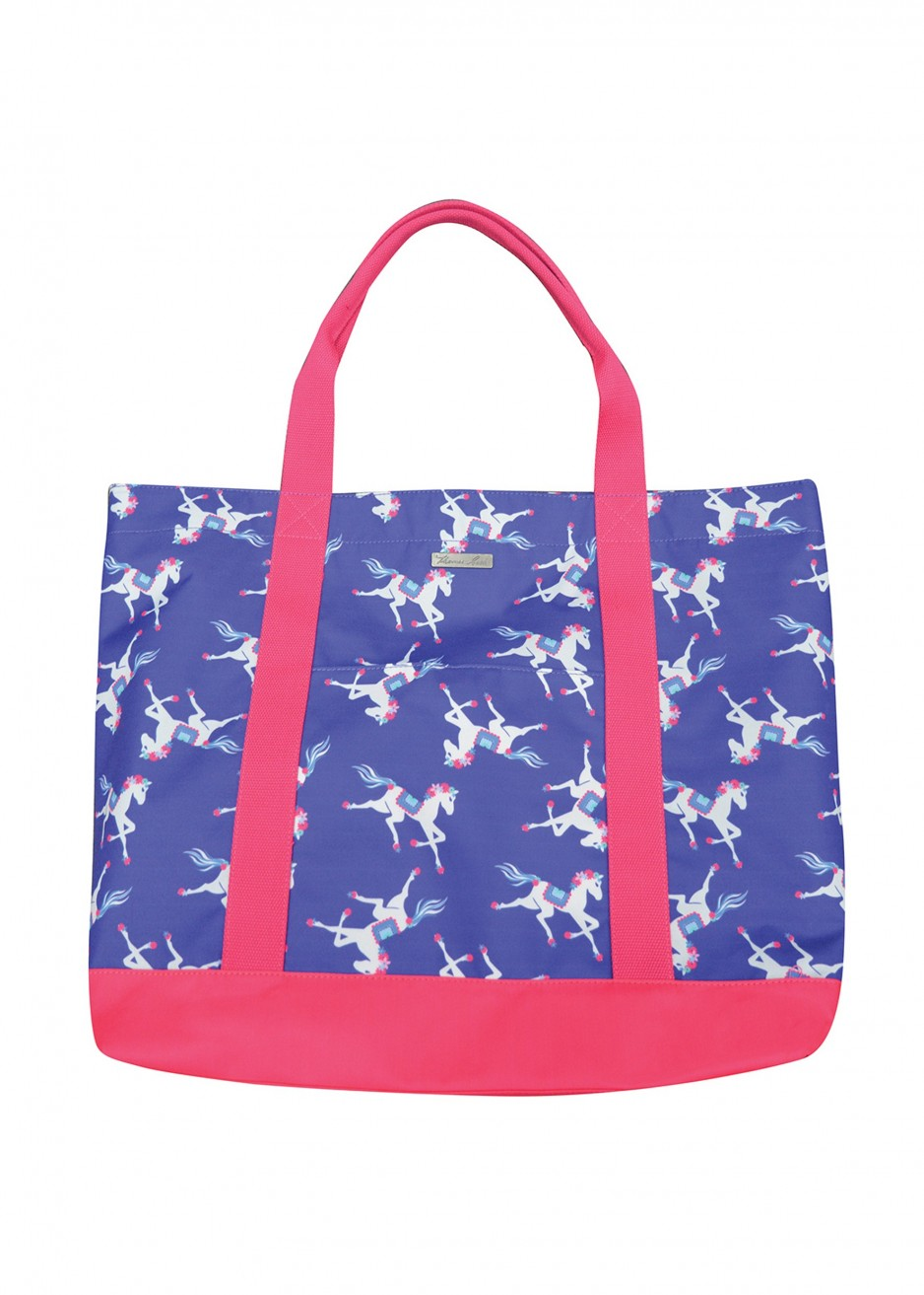 HORSES PRINT EVERYDAY TOTE BAG