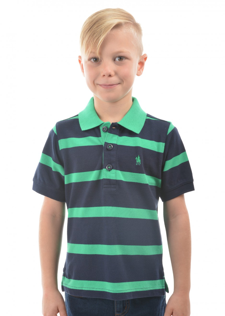 BOYS MASON STRIPE S/S POLO