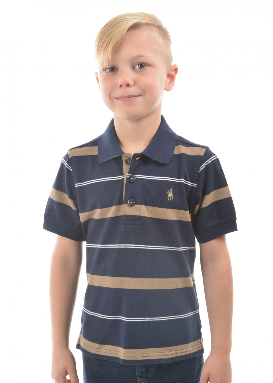 BOYS JORDAN STRIPE S/S POLO