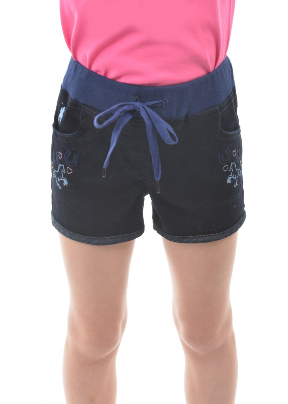 GIRL JENOLAN PULL ON DENIM SHORTS