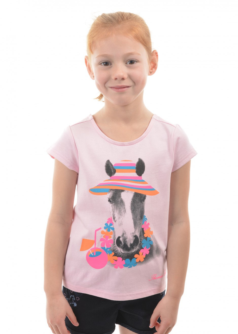 GIRLS HOLIDAY HORSE TEE