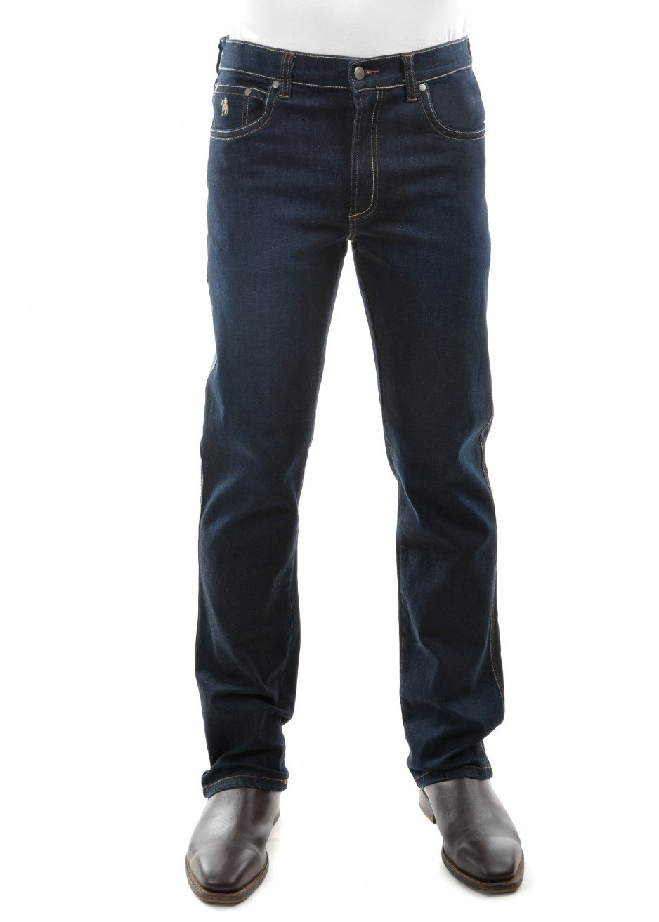 MENS BASS STRETCH COMFORT WAIST JEAN MID-RELAXED-STRAIGHT 32 LEG