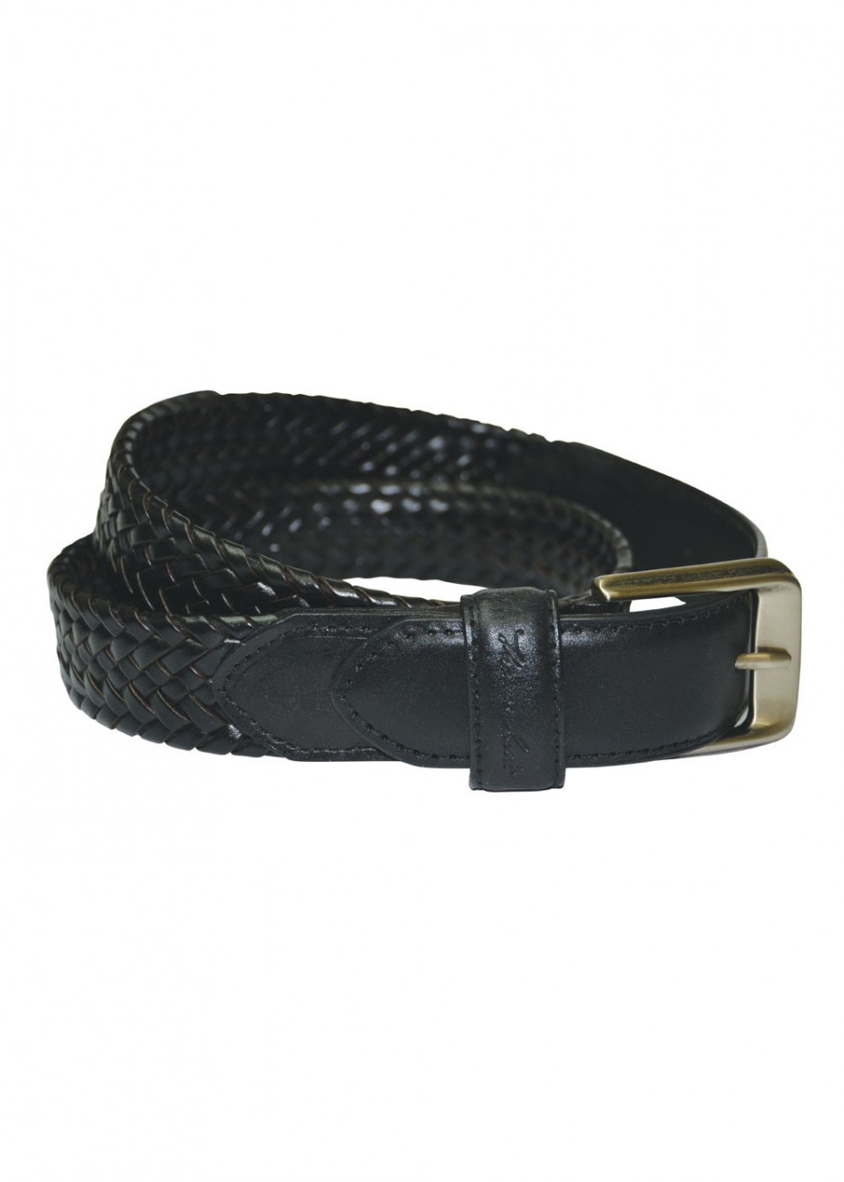 HARRY LEATHER BRAIDED BELT