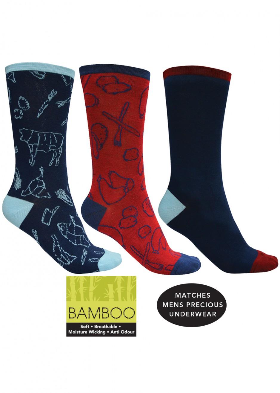 BAMBOO SOCKS 3-PACK