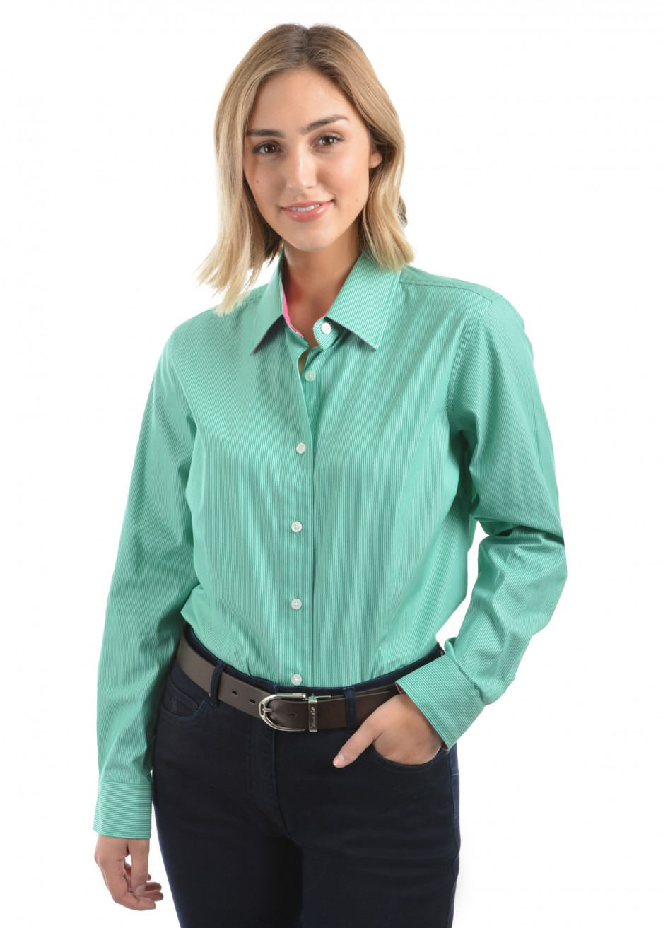 WOMENS GRAFTON STRIPE L/S SHIRT