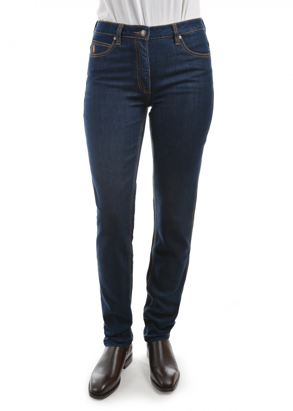 WOMENS STRETCH DENIM WONDER JEAN SLIM LEG 34