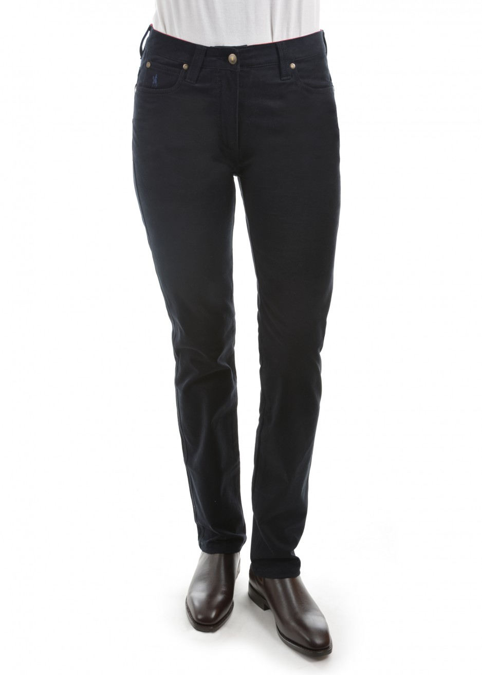 WOMENS STRETCH MOLESKIN WONDER JEAN MID-REG-SLIM 32 LEG