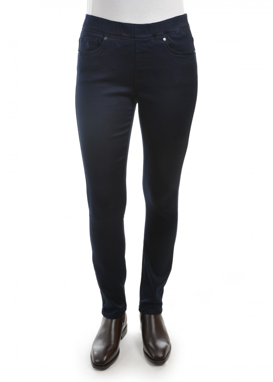 WOMENS NO FUSS PULL-ON SLIM LEG WONDER JEAN 30 LEG