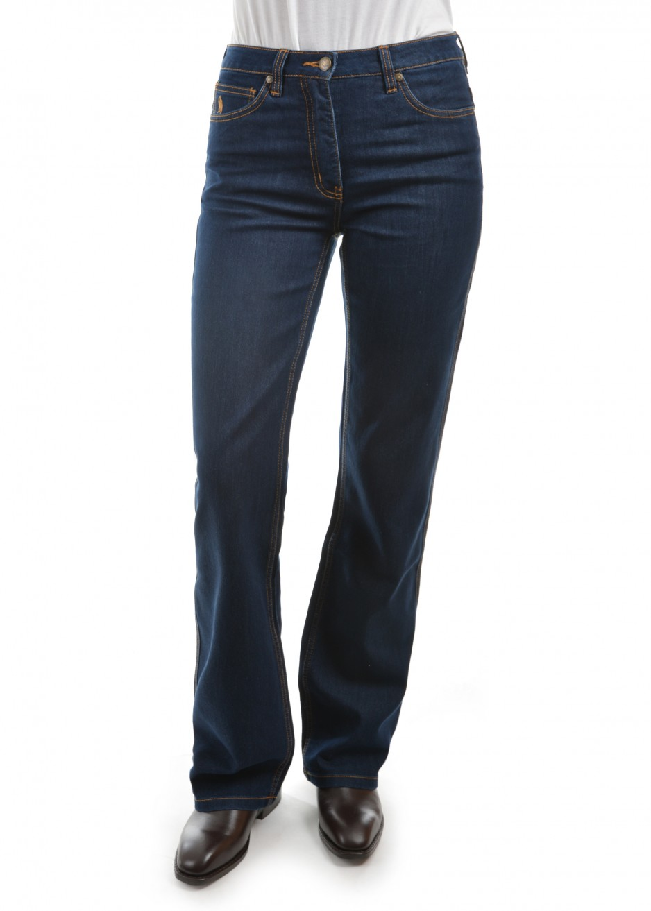 WOMENS STRETCH DENIM WONDER JEAN-MID-REG-BOOT 34 LEG
