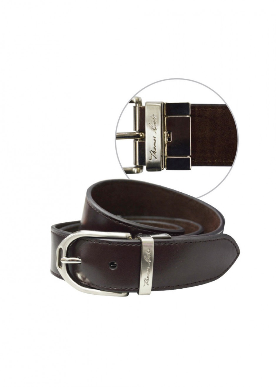 WOMENS STIRRUP BUCKLE REVERSIBLE BELT