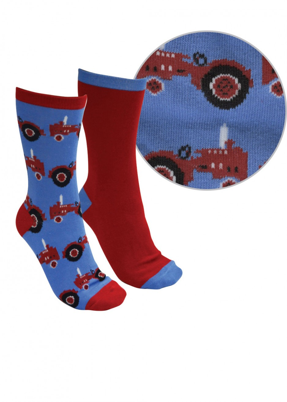 KIDS FARMYARD SOCKS - TWIN PACK