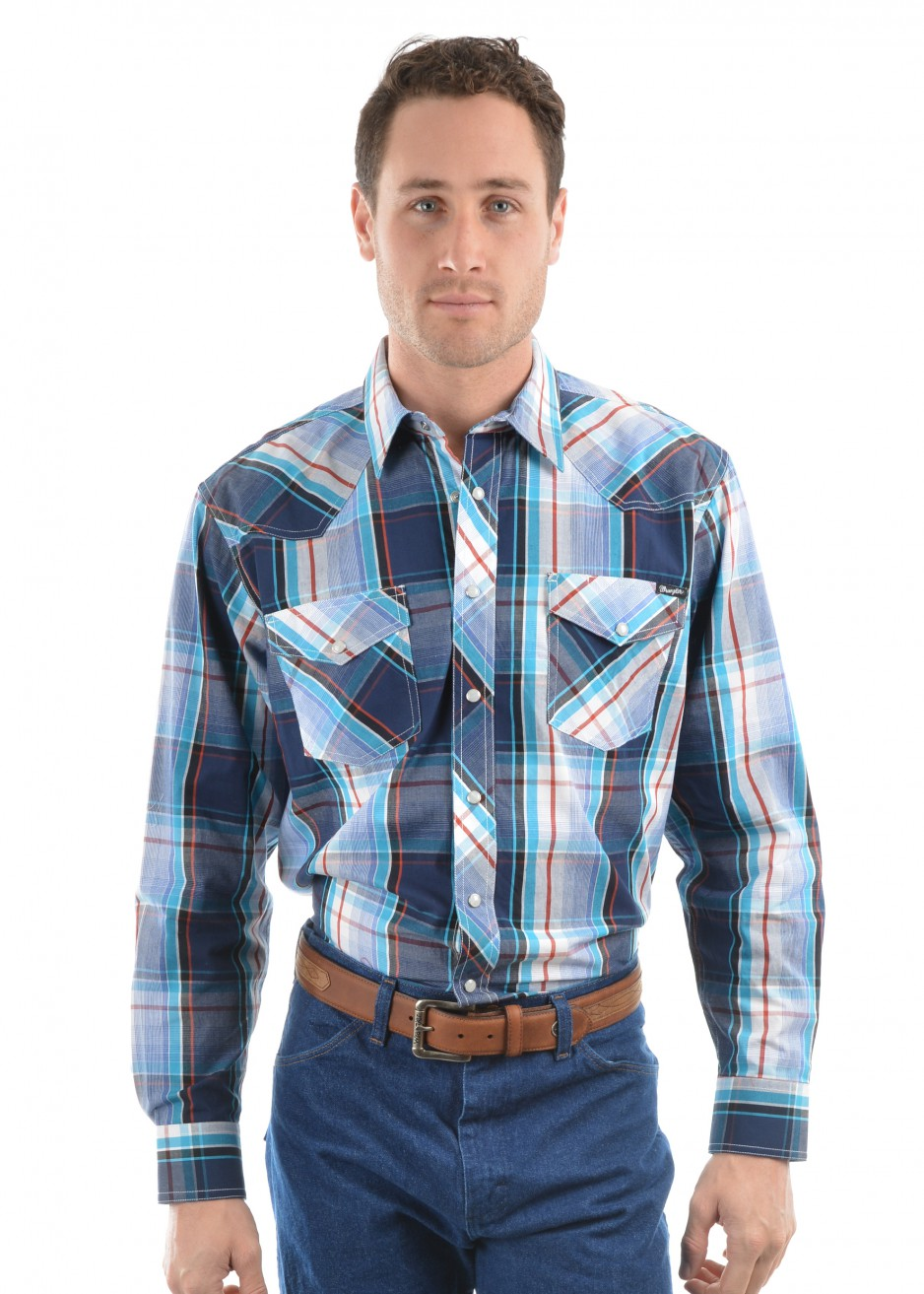 MENS AUGUST CHECK L/S SHIRT