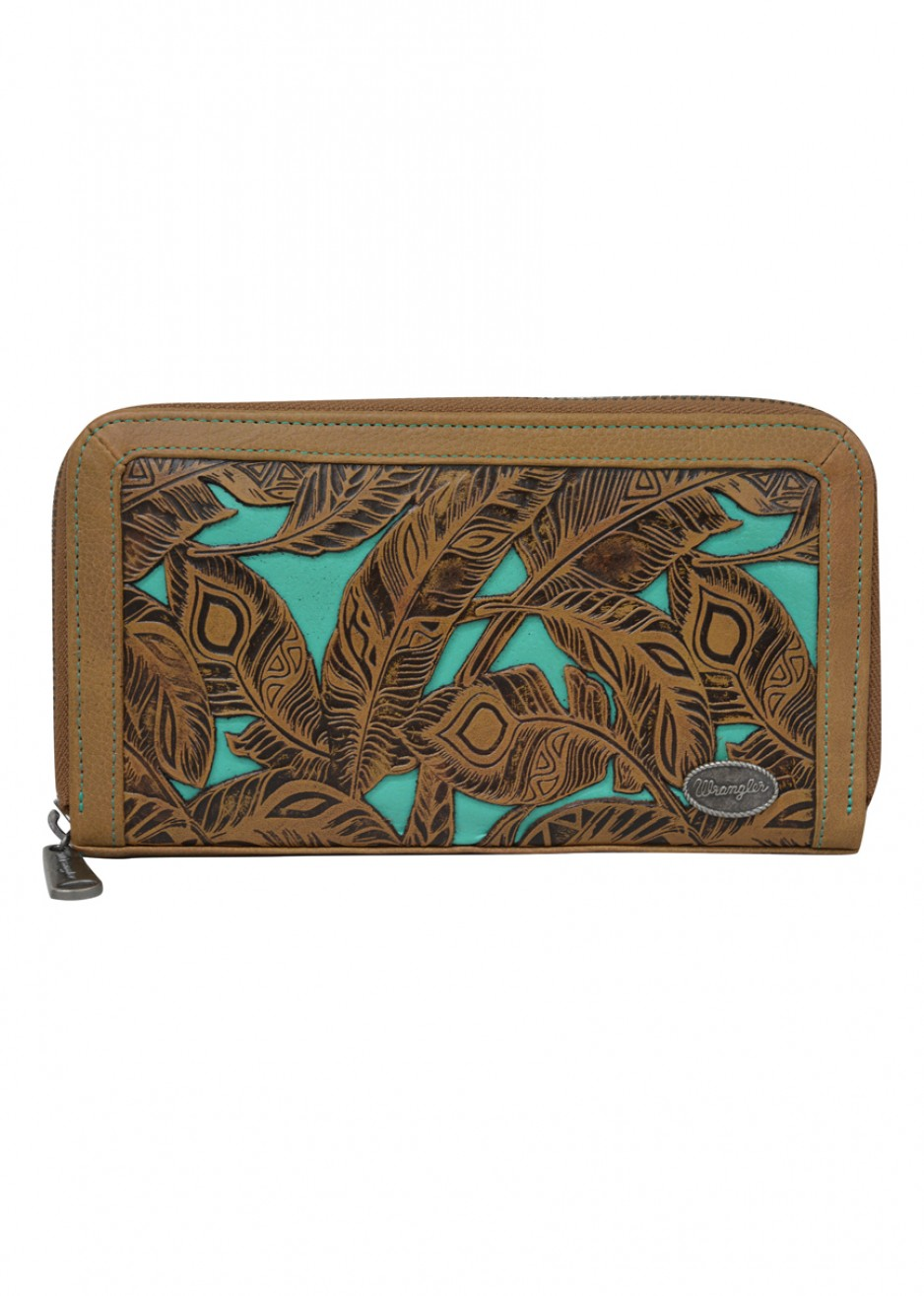 WOMENS FEATHER WALLET