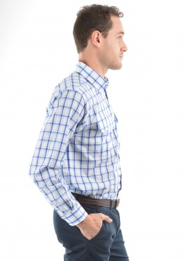 MENS PAUL CHECK 2-POCKETS L/S SHIRT