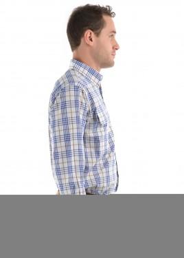 MENS SAM CHECK 2-POCKETS L/S SHIRT