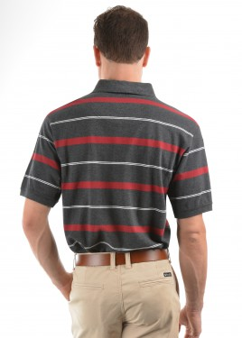 MENS JORDAN STRIPE 1-POCKET S/S POLO