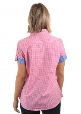 WOMENS HAILEY CHECK S/S SHIRT