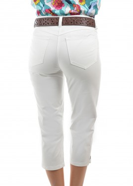 WOMENS YAMBA CROP WONDER JEAN CAPRI SLIM LEG