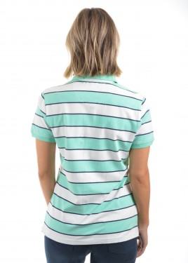 WOMENS JILL STRIPE S/S POLO