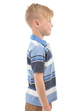 BOYS ADAM STRIPE S/S POLO