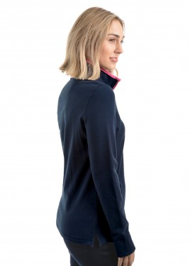 WOMENS CHARLIE CLASSIC 1/4 ZIP NECK RUGBY