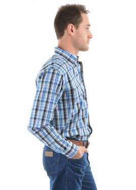 MENS ANDERS CHECK BUTTON DOWN LS SHIRT