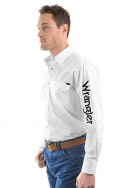 MENS LOGO RODEO L/S DRILL SHIRT